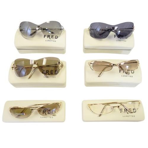 5b0c81d295 Fred Lunettes - Assorted Sunglasses - 6 Pc Lot