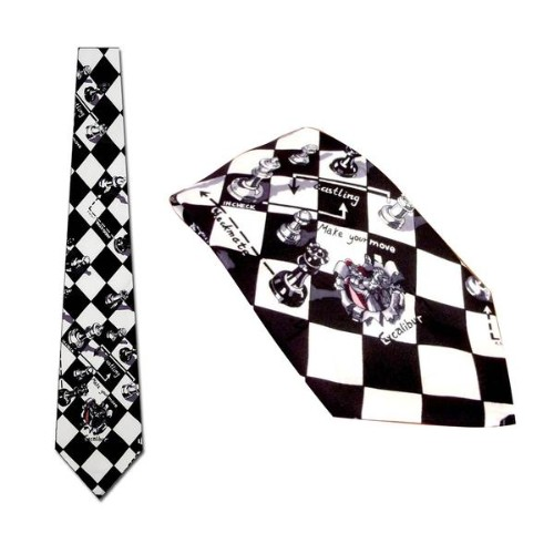 Nicole Miller Chess Pattern Neckties - 45 Pc Lot