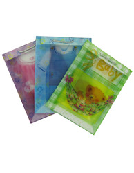 Transparent baby gift bags, assorted medium size -  #GL364
