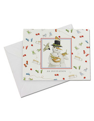 Snowman Marjolein Bastin invitations, pack of 10 -  #HM893
