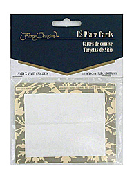 Tapestry Champagne place cards, pack of 12 -  #KJ488