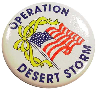 Collectible Desert Storm Flag Pin