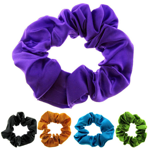 Assorted Color Satin Look Scrungies HS5765