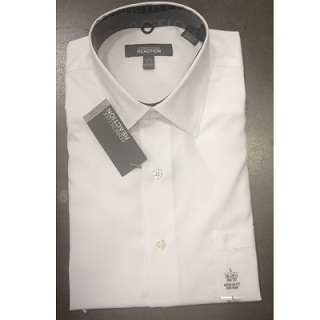 Kenneth Cole Reaction mens WHITE button front shirts 24pcs.