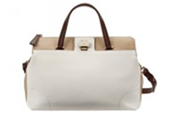 Furla Piper LUX M Satchel Leather Bag - White