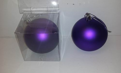 Fancy Purple Ball Christmas Ornament ? Minor Blemishes